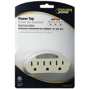 Powerzone ORADL101 Outlet Tap, 15 A, 3-Outlet, White