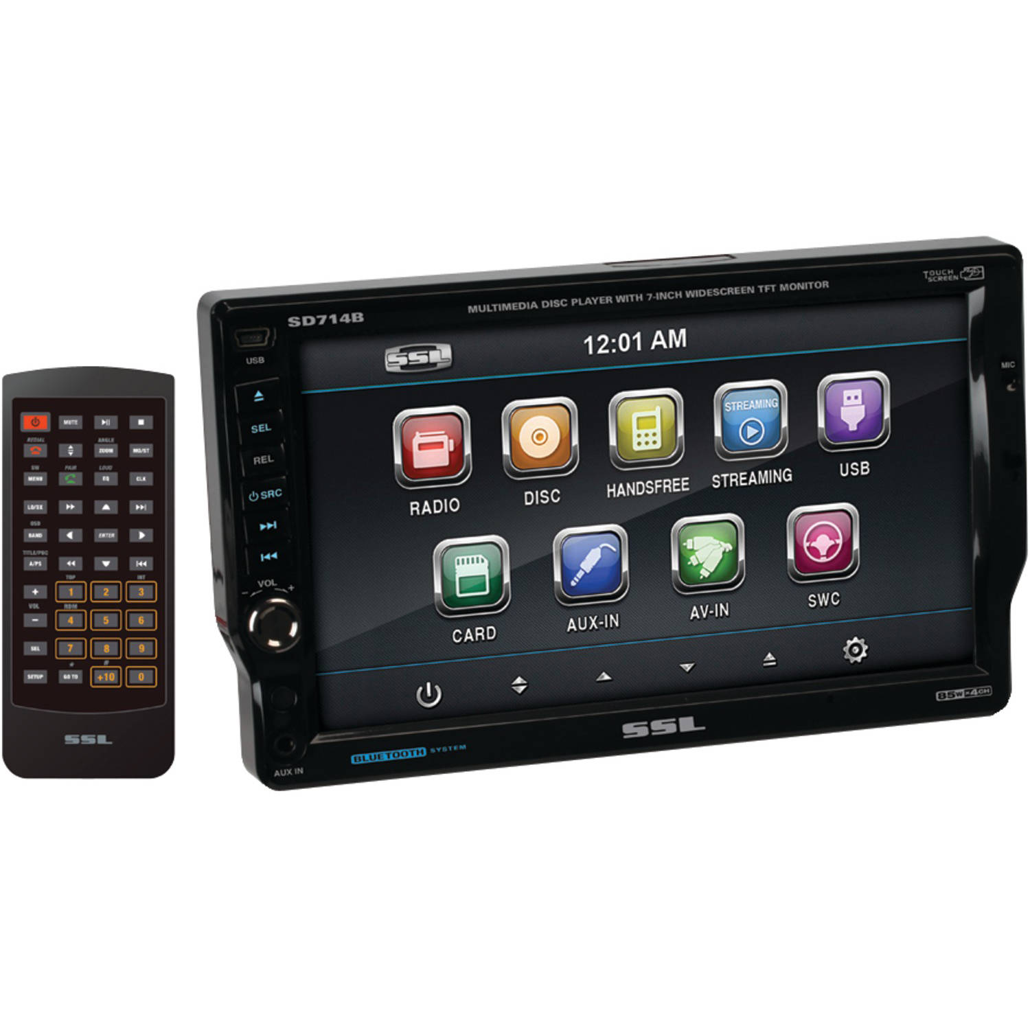 "Sounstorm SD714B 7"" Single-DIN In-Dash DVD Receiver with ..."