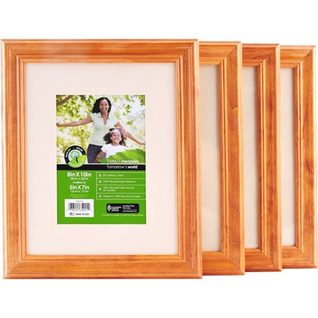 pinnacle 8 x 10 natural wood frame matted to 5 x 7 set of 4