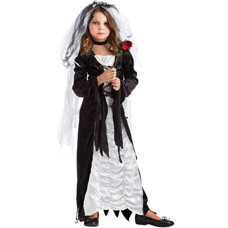 Dark Bride Child Halloween Costume](Zombie Bride Costumes)