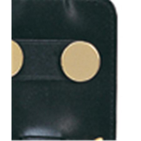 Simran 846-BLK Ajmer 2 oz.  Stainless Steel Flask In Black Leather Golf Accessory Pouch