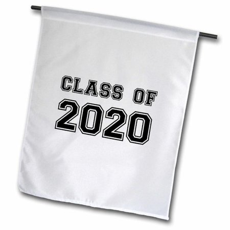 3dRose Class of 2020 Graduation Gift Polyester Garden Flag - Graduation Flags