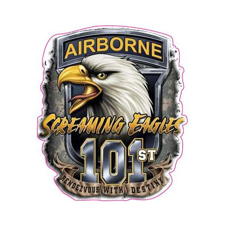 U.S. Army 101st Airborne Screaming Eagles Decal Free Shipping in the United States.