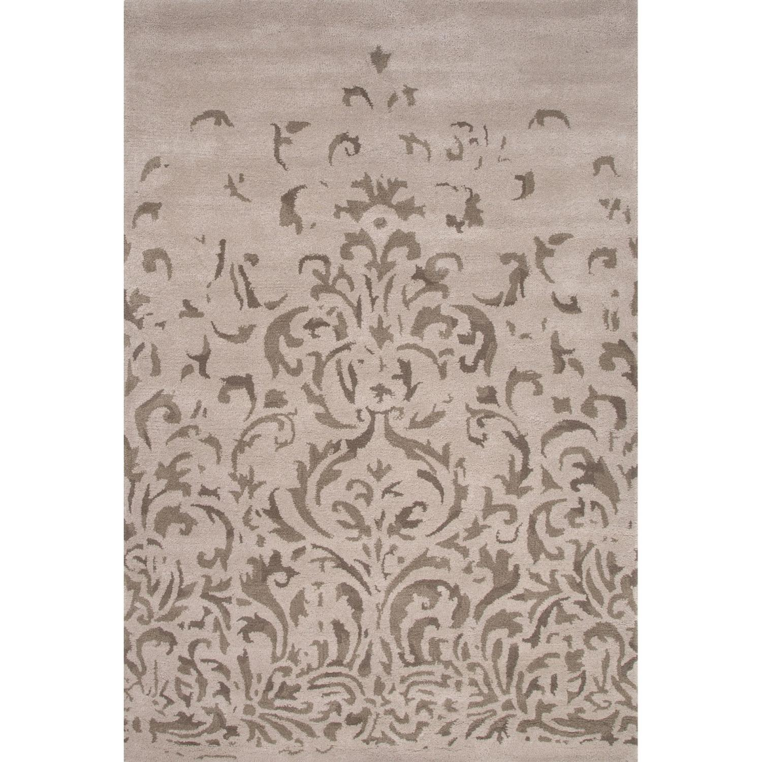 5' x 8' Gray and Ivory Everlast Transitional Hand Tufted Wool Area Throw Rug