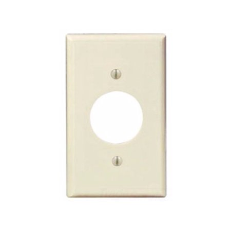 Leviton 82004 1-Gang Single 1.406 Inch Hole Device Receptacle Wallplate, Standard Size, Thermoset, Device Mount, (Holes Almond)