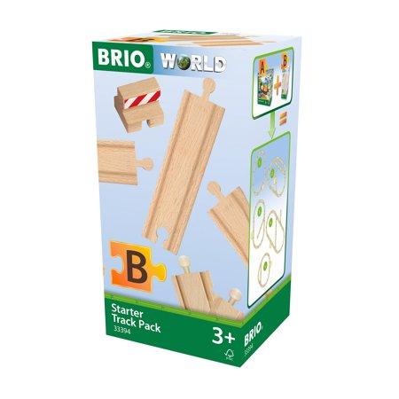 BRIO World Wooden Railway Train Set - Starter Track Pack - Ages 3+ Model Railroad Track Plans