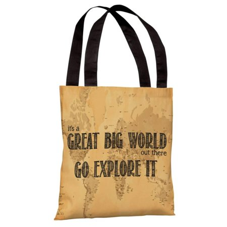 Great Big World Map Tote Bag By OBC Tote Bag X Walmartcom - Large world map walmart