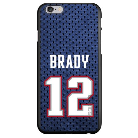 Custom Black Spigen Thin Fit Case For Apple Iphone 6   6S  4 7   Screen    Brady 12 Jersey