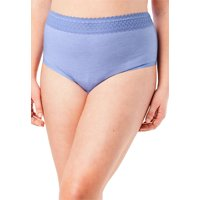 Comfort Choice Plus Size 3-pack Lace Waistband Full-cut Brief  Underwear