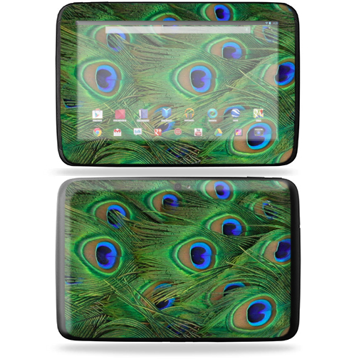 "Mightyskins Protective Skin Decal Cover for Samsung Google Nexus 10 Tablet with 10"" screen wrap sticker skins Peacock"