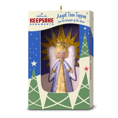Hallmark Keepsake Christmas Ornament 2018 Year Dated, Nifty Fifties Angel Tree Topper ()