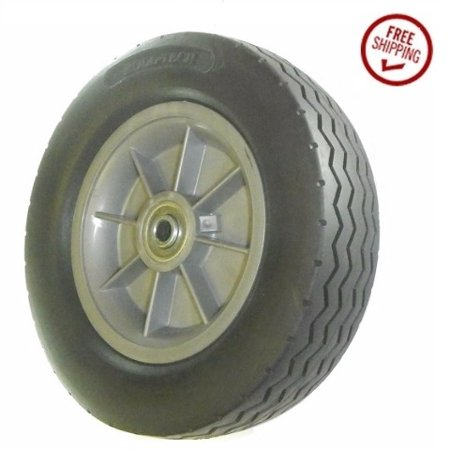 Hub Solid Rubber Wheels - Solid Rubber Cart Tire with Offset Hub (2-1/2