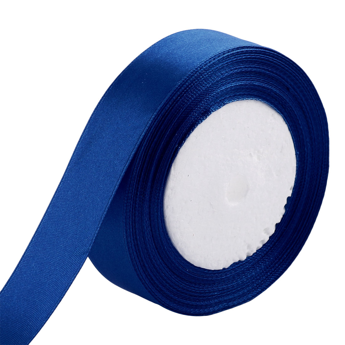 DIY Gift Packing Double Face Satin Ribbon Roll 25 Yards 2.5cm Width Dark Blue