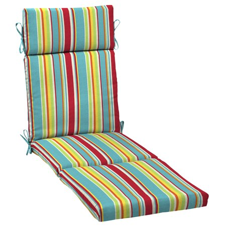 Mainstays Multi Stripe 72 x 21 in. Outdoor Chaise Lounge Cushion