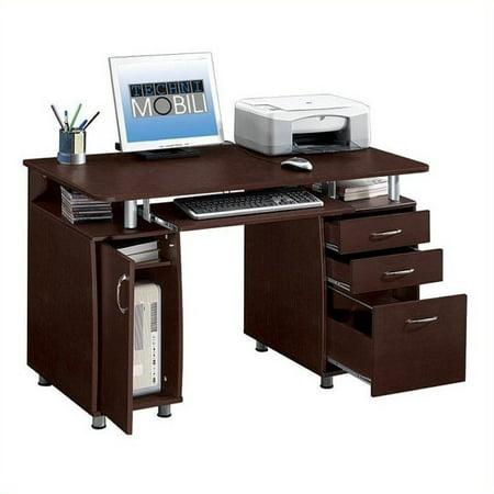 Kingfisher Lane Super Storage Computer Desk in Chocolate