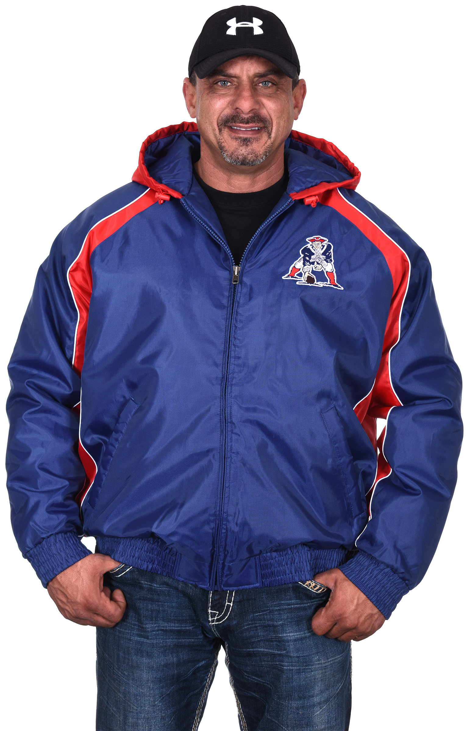 New England Patriots Throwback Zipper Jacket By G-III by