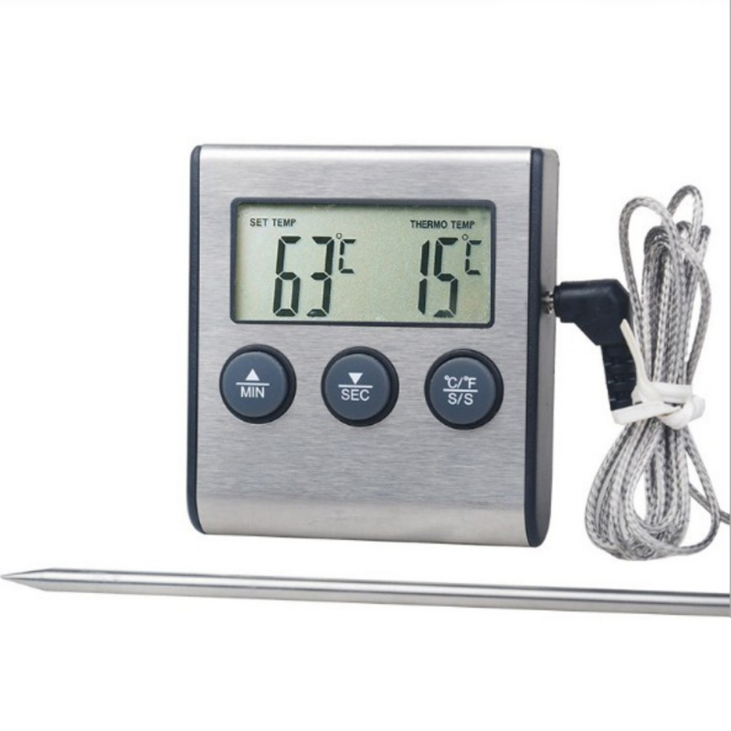 Digital LCD Food Thermometer Probe Cooking Meat Temperature BBQ Kitchen Milk