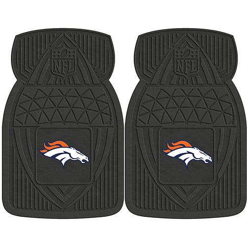 NFL 2-Piece Heavy-Duty Vinyl Car Mat Set, Denver Broncos - SPORTS LICENSING SOLUTIONS
