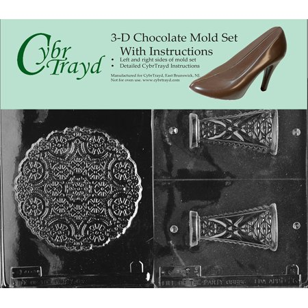 Cybrtrayd D026AB Pedestal Dish Chocolate Candy Mold Kit with 2 Molds and 3D Chocolate Instructions