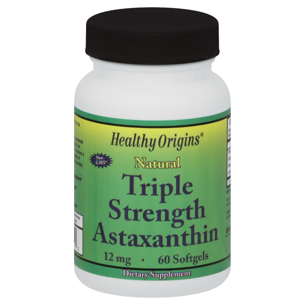Healthy Origins Astaxanthin Triple Strength Softgels, 12 Mg, 60 Ct