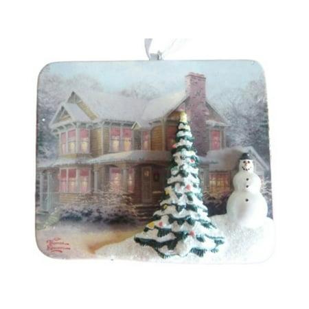 Thomas Kinkade Christmas Ornament Victorian Christmas Holiday Painting - Walmart.com