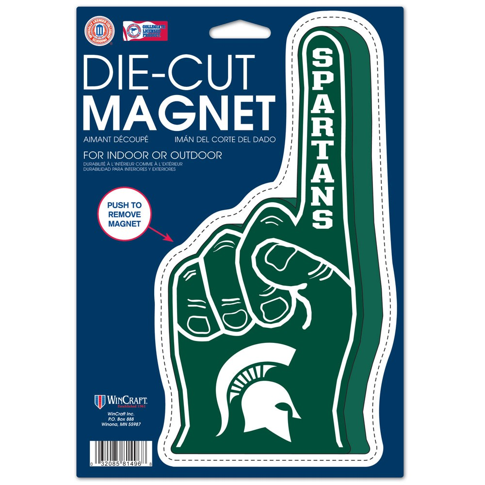"Official NCAA 6.25""x9"" Die Cut Car Magnet by Wincraft"