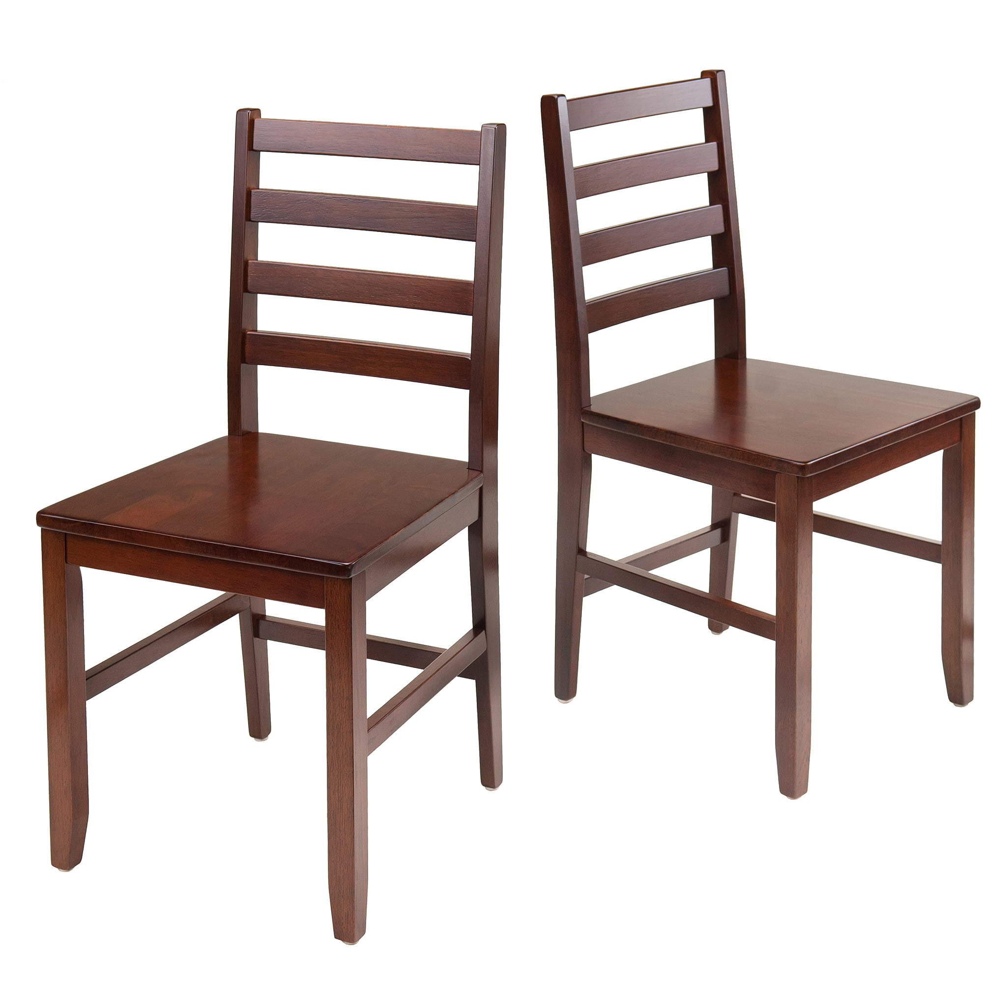 Winsome Wood Hamilton 2 Piece Ladder Back Chair   Walmart.com