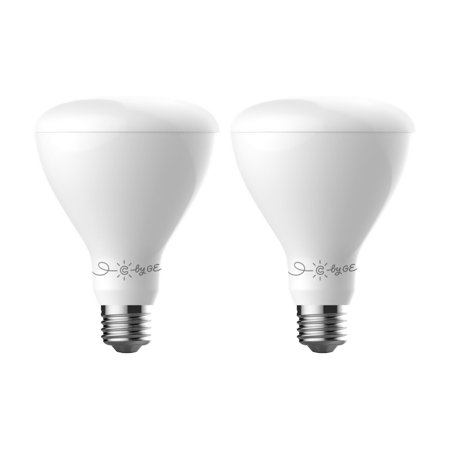 C by GE C-Life Smart LED Tintable White Indoor Floodlight Light Bulbs by GE Lighting, 2-Pack, Works with Alexa Soft