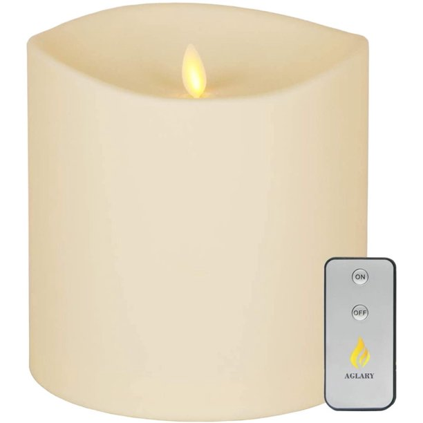 Aglary Large Outdoor Flameless Candles, Outdoor Flameless Candles With Remote
