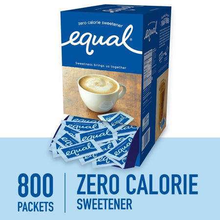 Secretion Sweetener ((800 Packets) Equal Zero Calorie Sweetener Packets, Sugar)