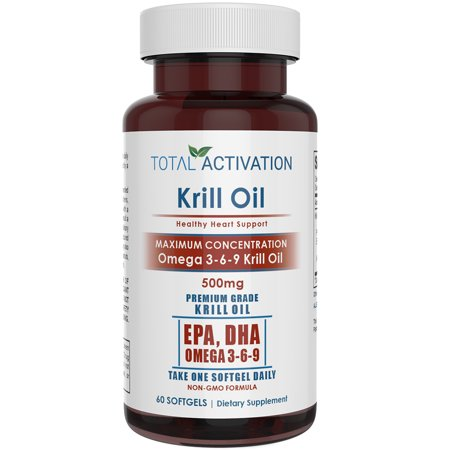 Trim Healthy Weight Formula (Krill Oil, Packed with 500 mg of Omega 3-6-9 Fatty Acids for a Heart Healthy Formula, No Fishy After Taste, 60 Softgels)