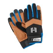HART Leather Palm Work Gloves, 5-Finger Touchscreen Capable, Medium