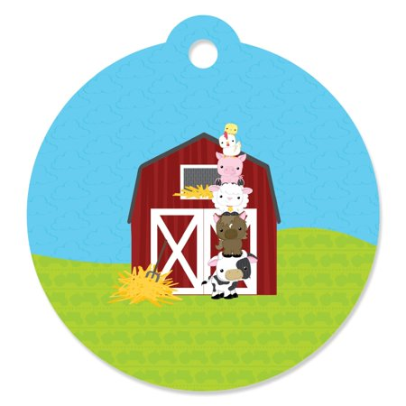Farm Animals - Baby Shower or Birthday Party Favor Gift Tags (Set of 20)