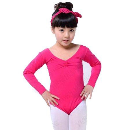 dd4d24dfb Kid Girls Long Sleeve Ballet Dance Dress Fitness Gymnastics Wear ...