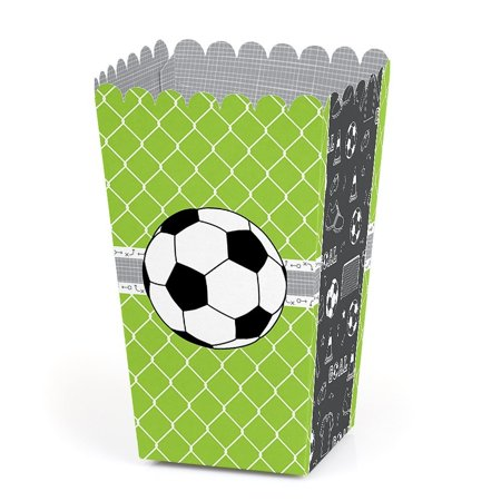 GOAAAL! - Soccer - Baby Shower or Birthday Party Favor Popcorn Treat Boxes - Set of - Soccer Birthday Party Ideas