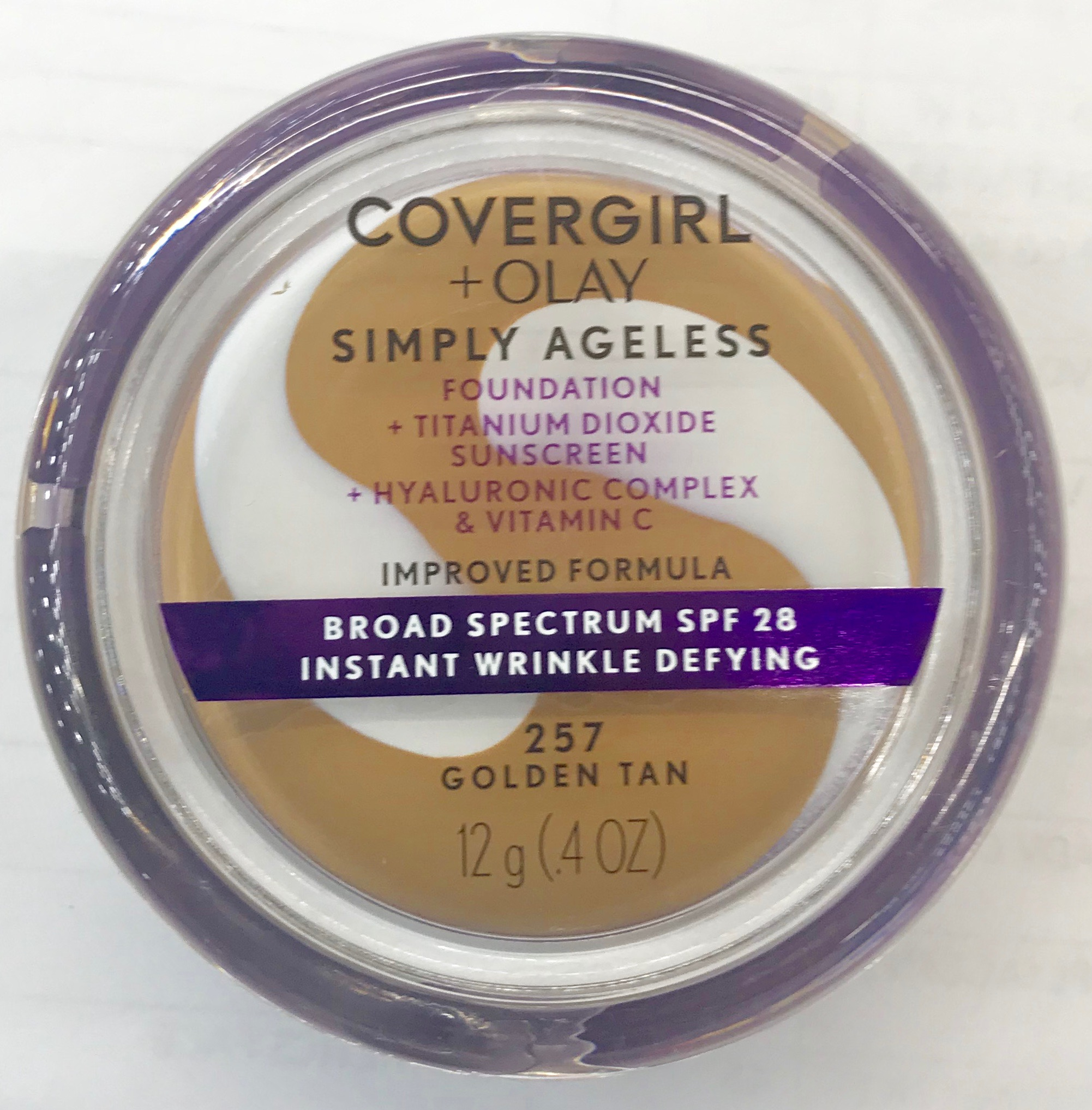 COVERGIRL Simply Ageless Wrinkle Defy Foundation, Golden Tan
