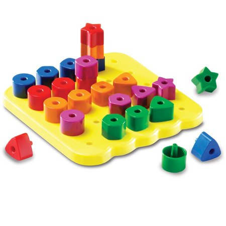 Learning Resources Stacking Shapes Pegboard, Fine Motor (Fine Motor Skill Toys For 1 Year Old)