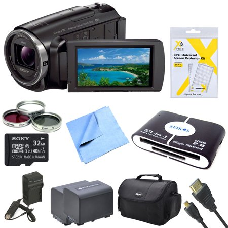 Sony Hd Video Recording Hdrpj670 Pj Handycam Camcorder Bundle With 2 High Capacity Spare Batteries
