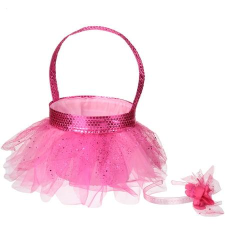 (2 Pack) Dan Dee® Collector's Choice® Pink Tutu Basket with Headband