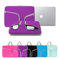 13'' Water-resistant Laptop Sleeve Case Bag,iClover Thickest Protective Zipper Slim Handle Laptop Case Cover for Macbook Apple Samsung Chromebook HP Acer Package Notebook Case Bag Purple