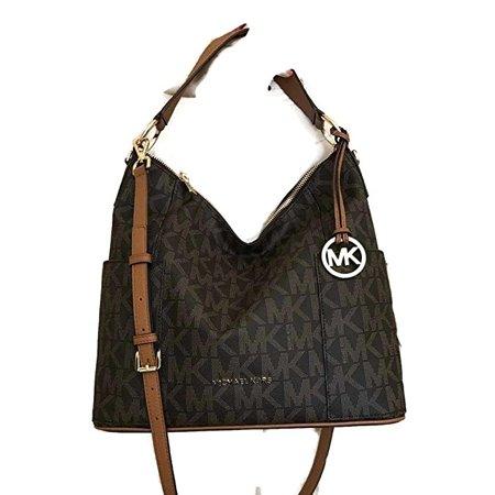 Michael Kors Anita Large Convertible Shoulder Bag (Brown) (35S7GA8L7B) ()