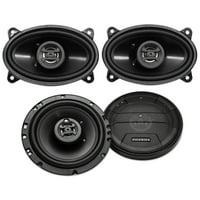 """(2) Hifonics ZS653 6.5"""" 600 Watt Car Stereo Speakers+(2) 4x6"""" 400 Watt Speakers"""