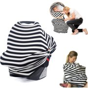 Car Seat Canopy For Infant Baby with Breathing Botton & Nursing Cover & Scarf | Multi-Use - Covers High Chair, Stroller & Shopping Cart, Baby Pillow | FREE GIFT BOX SET