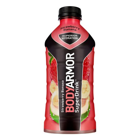 BodyArmor SuperDrink, Electrolyte Sport Drink, Strawberry Banana 28 Oz (Pack of