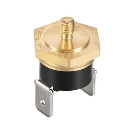 KSD301 Thermostat, Temperature Control Switch 60掳C Copper M4 N.C - image 3 de 3