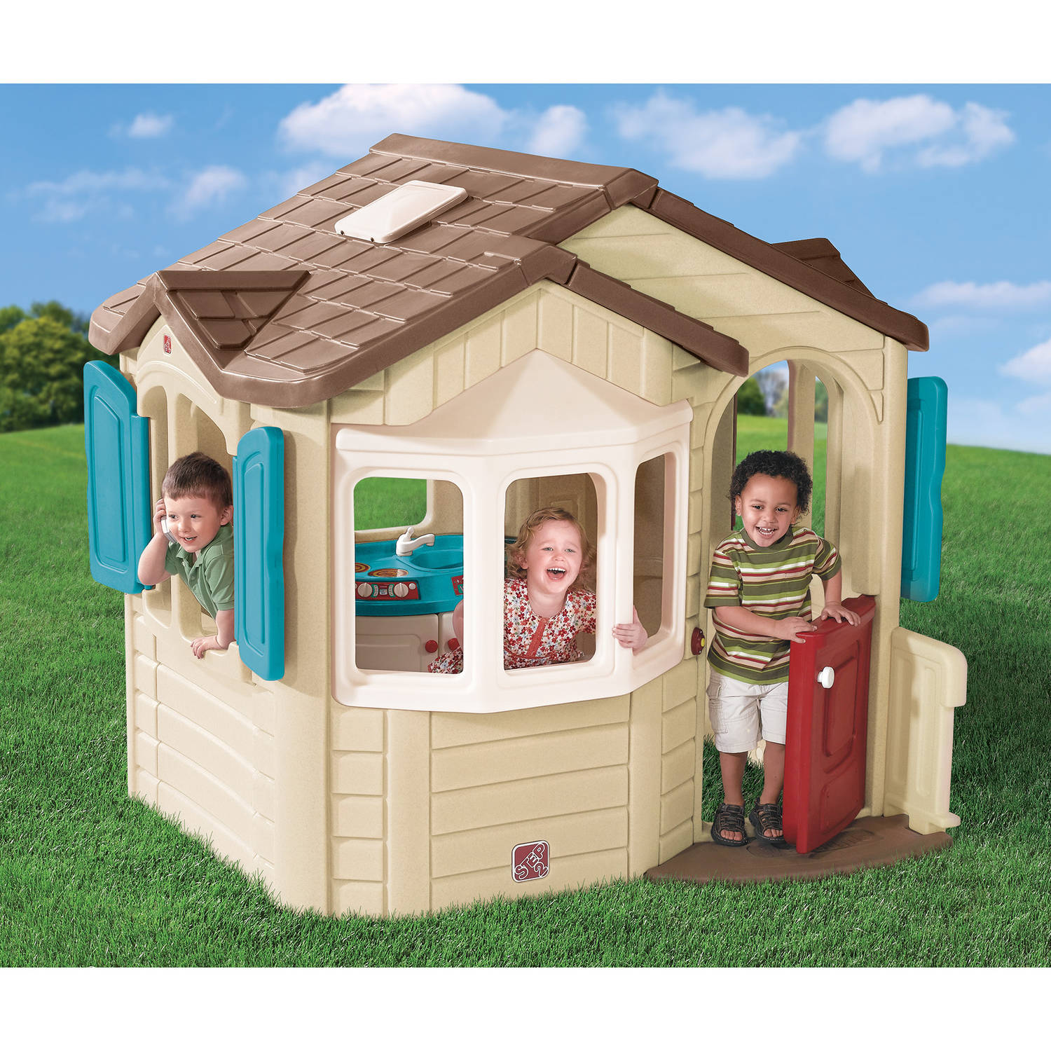 Step2 Naturally Playful Welcome Home Playhouse for Toddlers by Step2