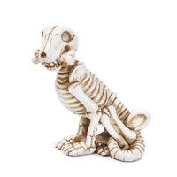 Miniature Halloween Dog Skeleton Figurine: 1.25 x 3 inches