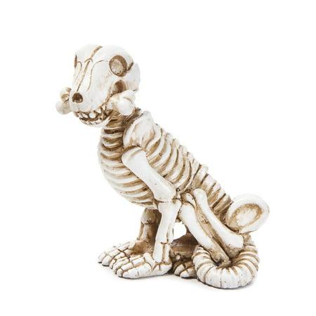 Miniature Halloween Dog Skeleton Figurine: 1.25 x 3 inches](Dog Skeleton Halloween)