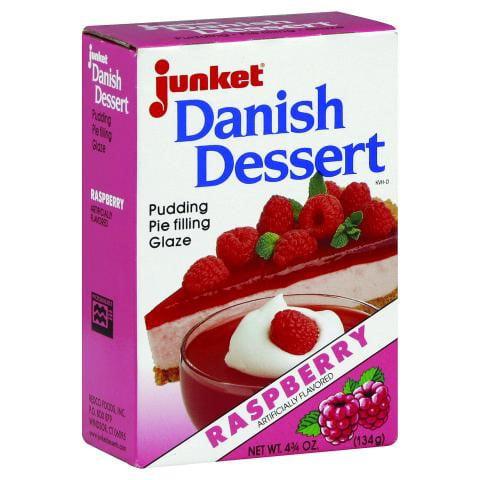 Junket Raspberry Danish Dessert 4.75 Oz Box by Junket