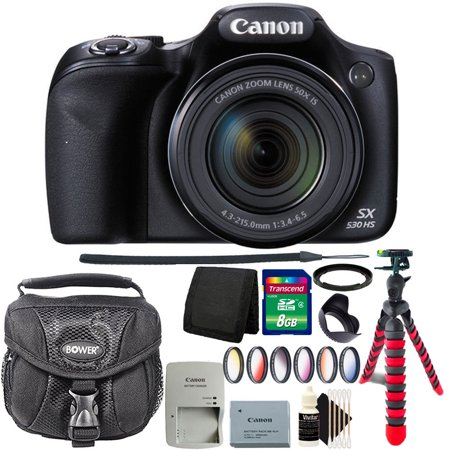 Canon PowerShot SX530 HS 16MP WiFi Digital Camera with 8GB Accessory Kit